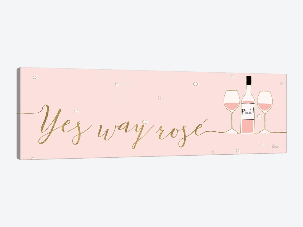 Underlined Bubbly II Pink by Veronique Charron 1-piece Canvas Wall Art