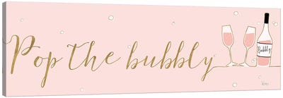 Underlined Bubbly III Pink Canvas Art Print