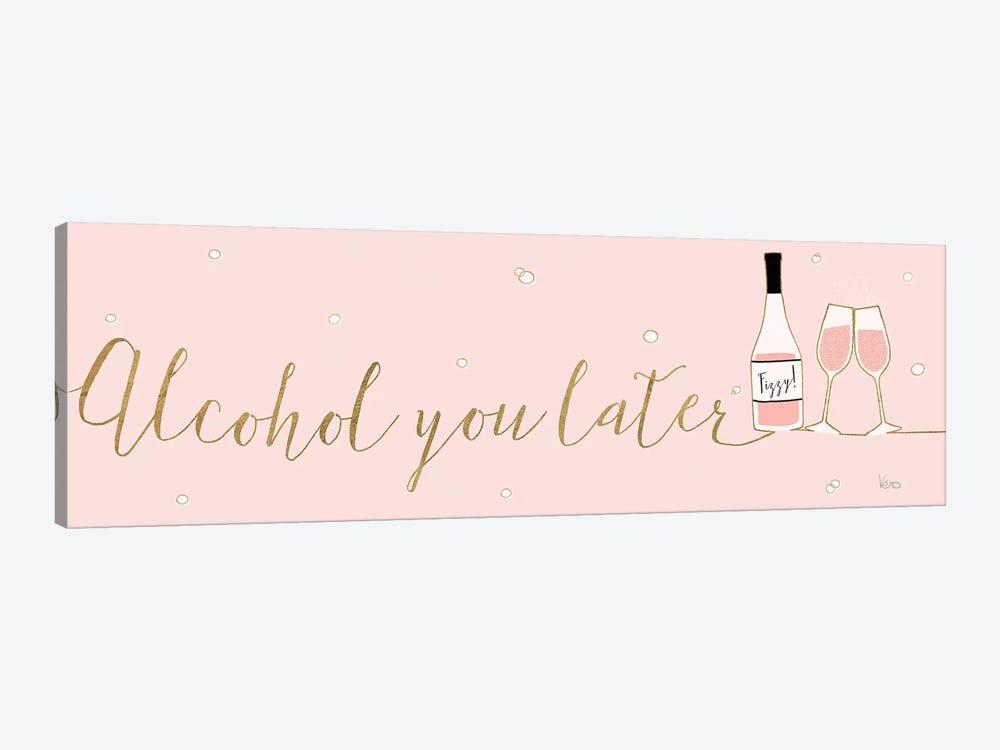 Underlined Bubbly IV Pink by Veronique Charron 1-piece Canvas Artwork