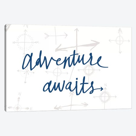 Adventure Awaits II Canvas Print #WAC8749} by Sara Zieve Miller Canvas Wall Art