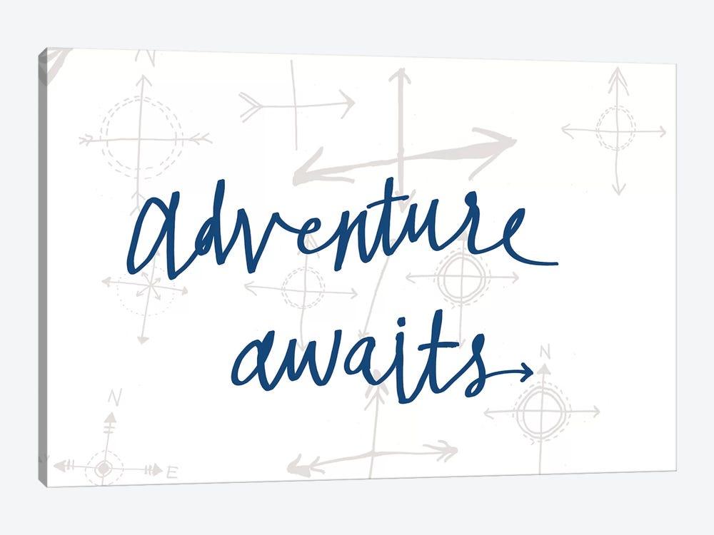 Adventure Awaits II by Sara Zieve Miller 1-piece Canvas Print