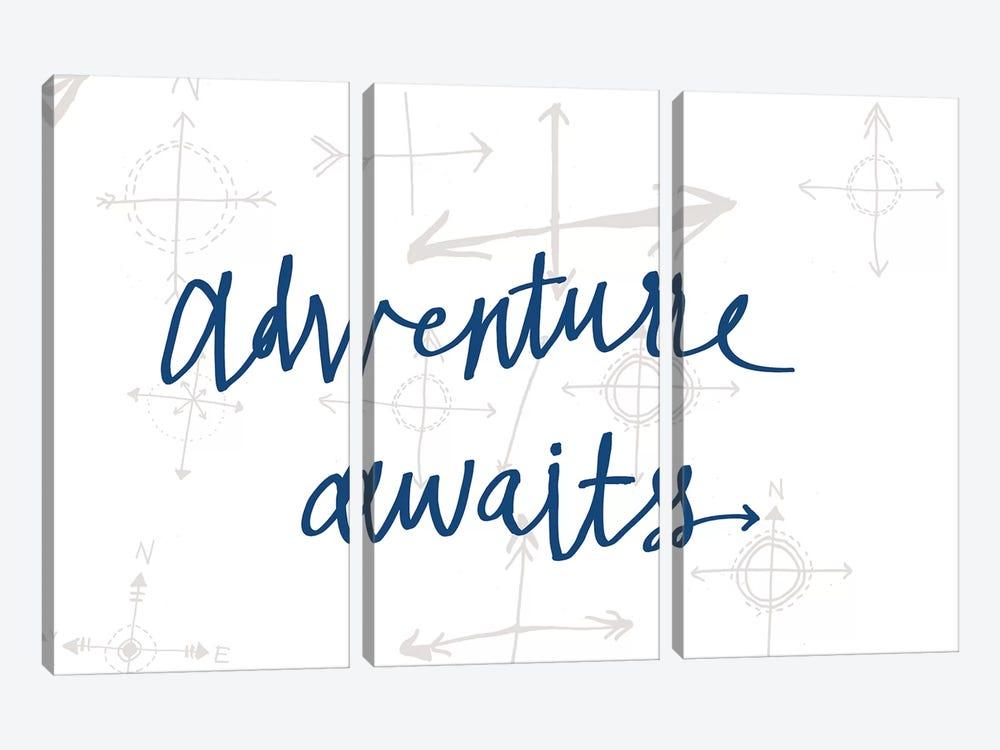 Adventure Awaits II by Sara Zieve Miller 3-piece Canvas Print