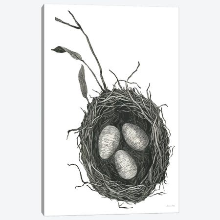 Springtime Nest III 3-Piece Canvas #WAC8751} by Sara Zieve Miller Art Print