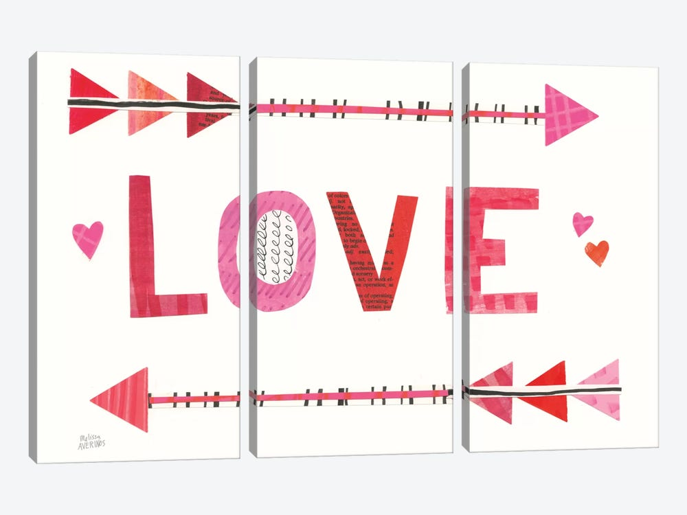 Love Words III by Melissa Averinos 3-piece Art Print