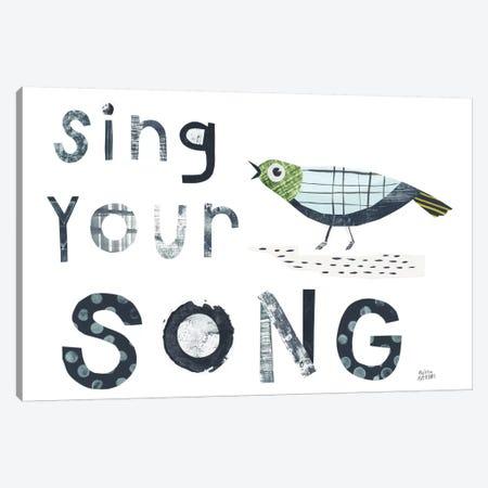 Bird Words III Canvas Print #WAC8762} by Melissa Averinos Canvas Art