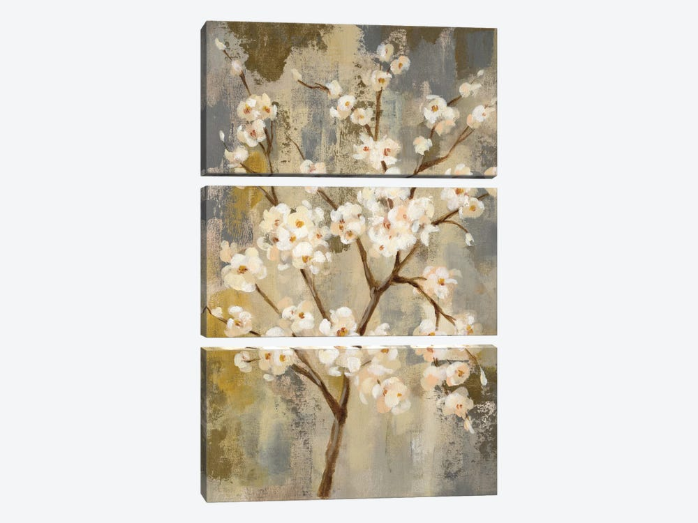 Neutral Branches I by Silvia Vassileva 3-piece Canvas Print