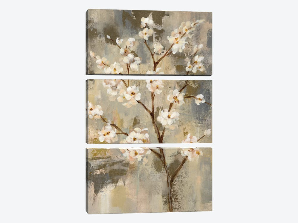 Neutral Branches II by Silvia Vassileva 3-piece Canvas Art