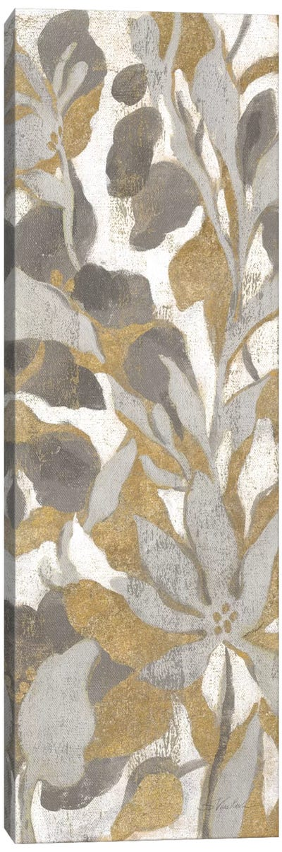Painted Tropical Screen, Gray Gold I Canvas Art Print