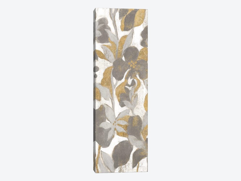 Painted Tropical Screen, Gray Gold II by Silvia Vassileva 1-piece Canvas Artwork