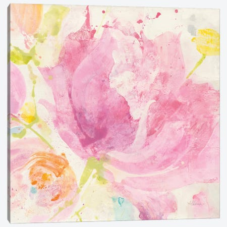 Spring Abstract Florals IV Canvas Print #WAC8785} by Albena Hristova Canvas Print