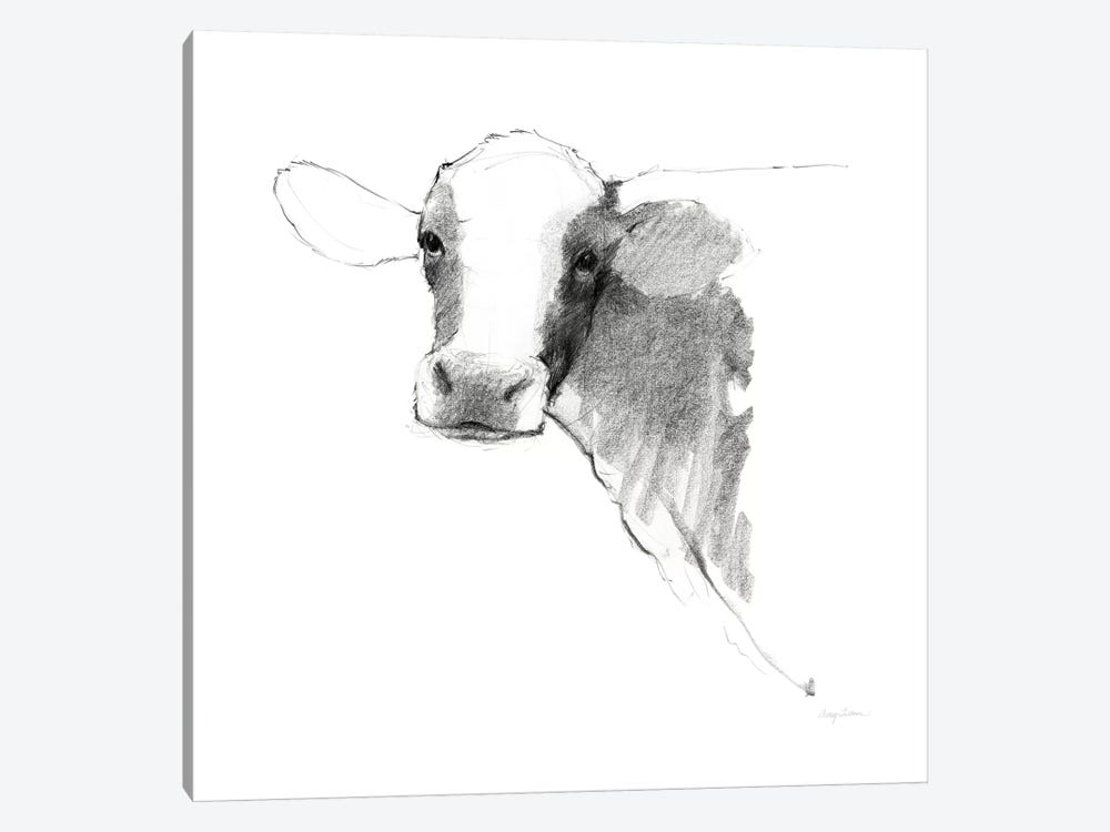 Cow II Dark Square by Avery Tillmon 1-piece Canvas Artwork