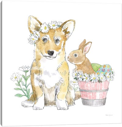 Easter Pups I Canvas Art Print