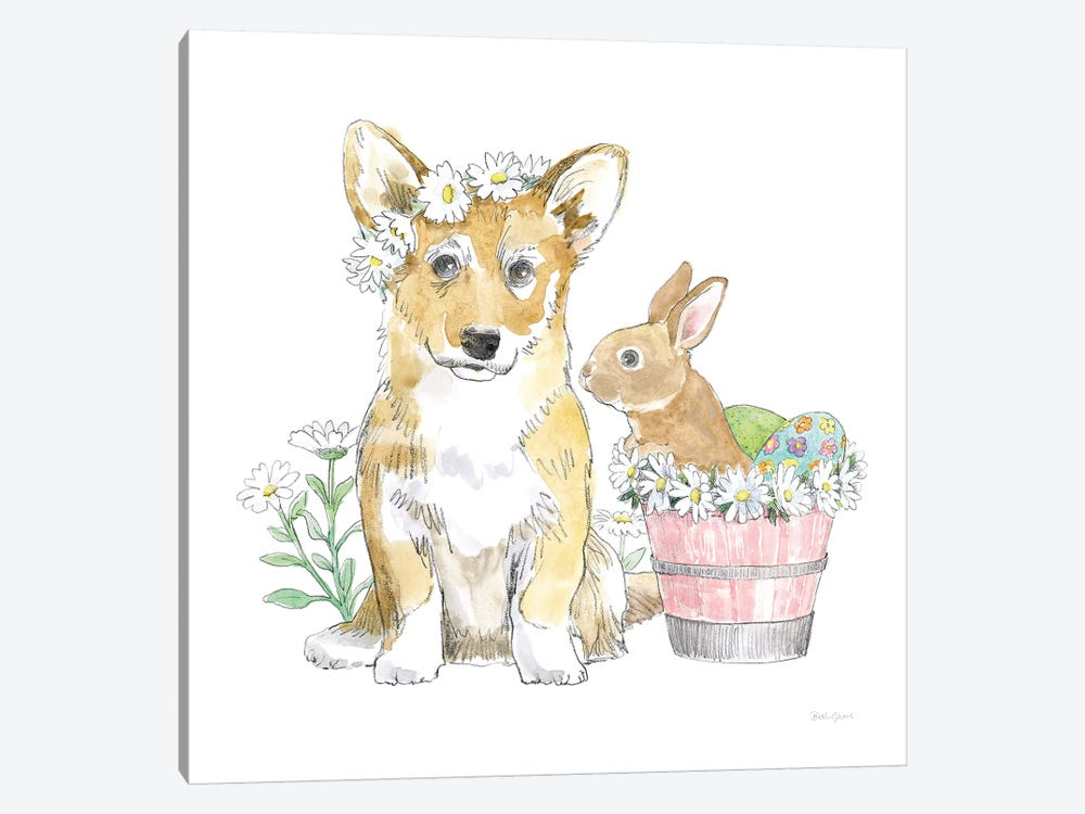 Easter Pups I by Beth Grove 1-piece Art Print