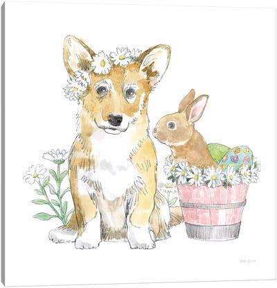 Easter Pups I Canvas Art Print