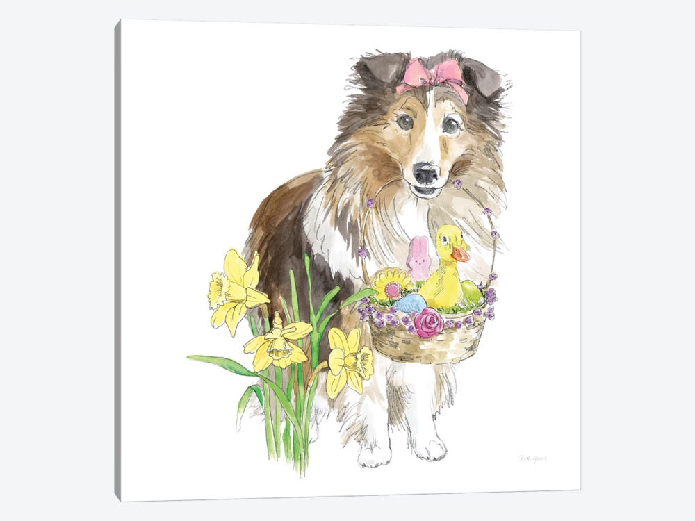 Easter Pups II by Beth Grove 1-piece Canvas Print