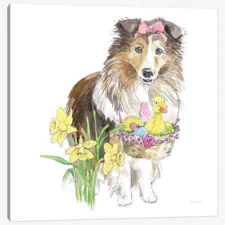 Easter Pups II Canvas Print #WAC8790} by Beth Grove Canvas Art Print