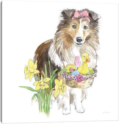 Easter Pups II Canvas Art Print