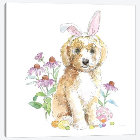 Easter Pups IV Canvas Print #WAC8792} by Beth Grove Canvas Print