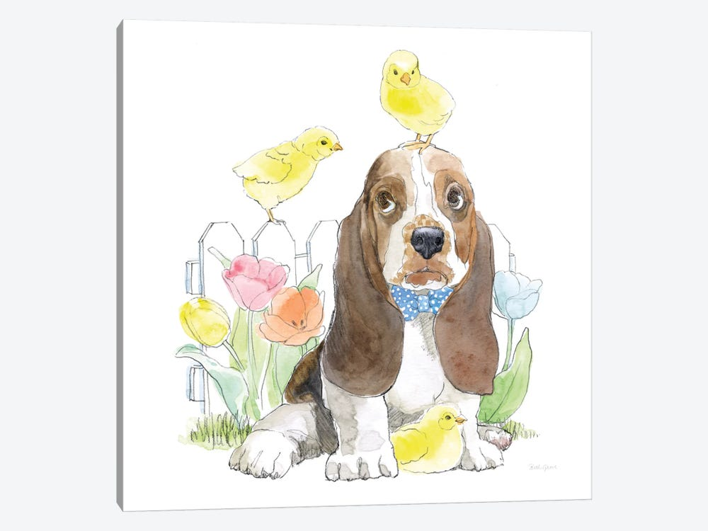 Easter Pups V by Beth Grove 1-piece Canvas Wall Art