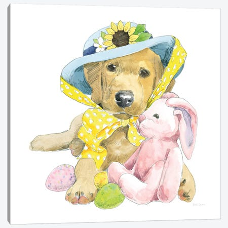 Easter Pups VI Canvas Print #WAC8794} by Beth Grove Canvas Wall Art