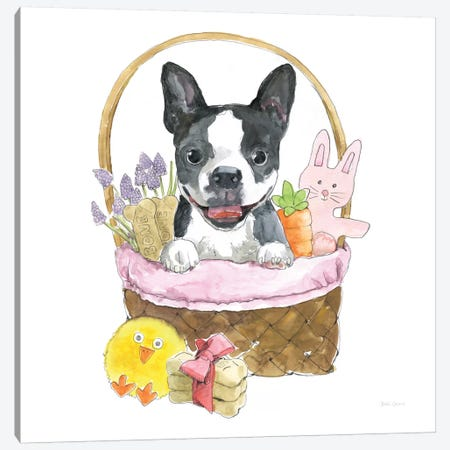 Easter Pups VII Canvas Print #WAC8795} by Beth Grove Canvas Artwork