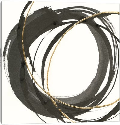 Gilded Enso I Canvas Art Print
