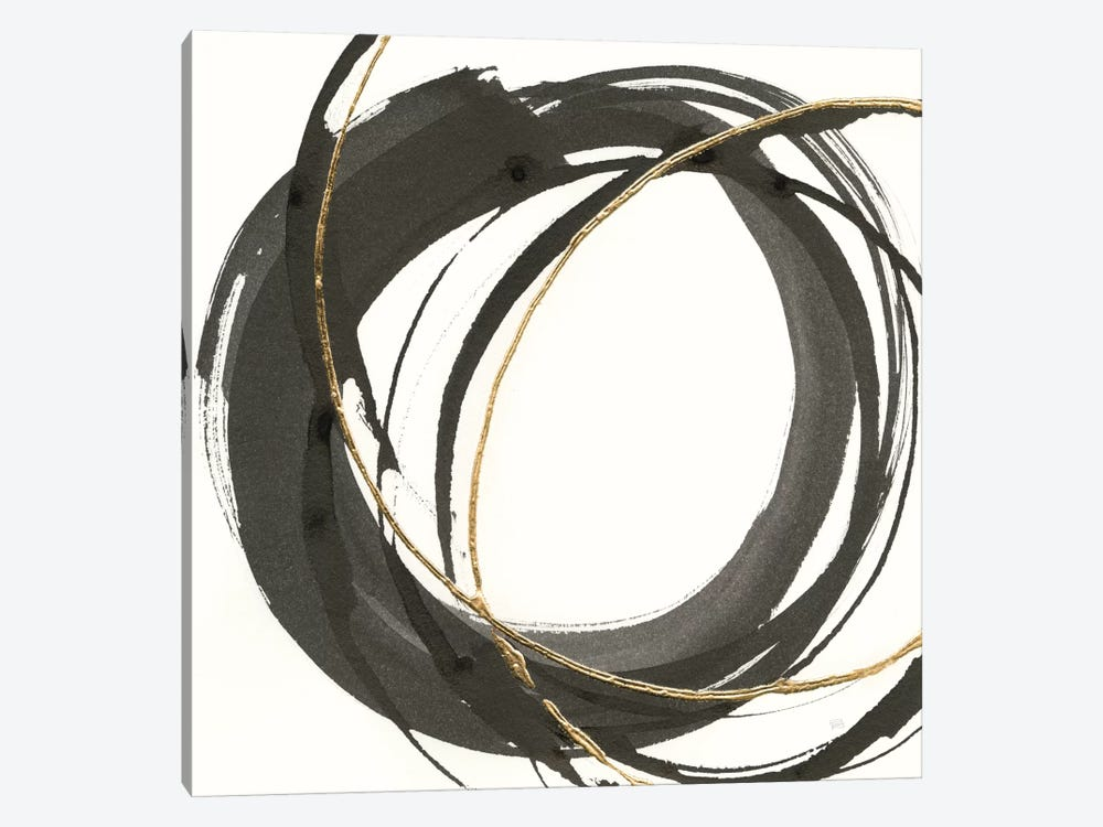 Gilded Enso I by Chris Paschke 1-piece Canvas Wall Art