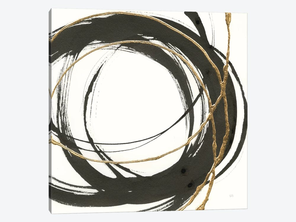 Gilded Enso II by Chris Paschke 1-piece Canvas Art Print