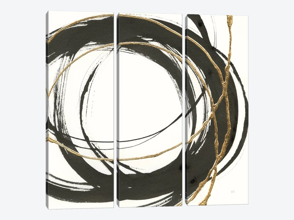 Gilded Enso II by Chris Paschke 3-piece Art Print