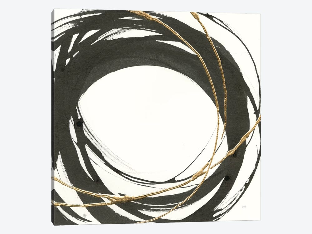 Gilded Enso III by Chris Paschke 1-piece Canvas Art