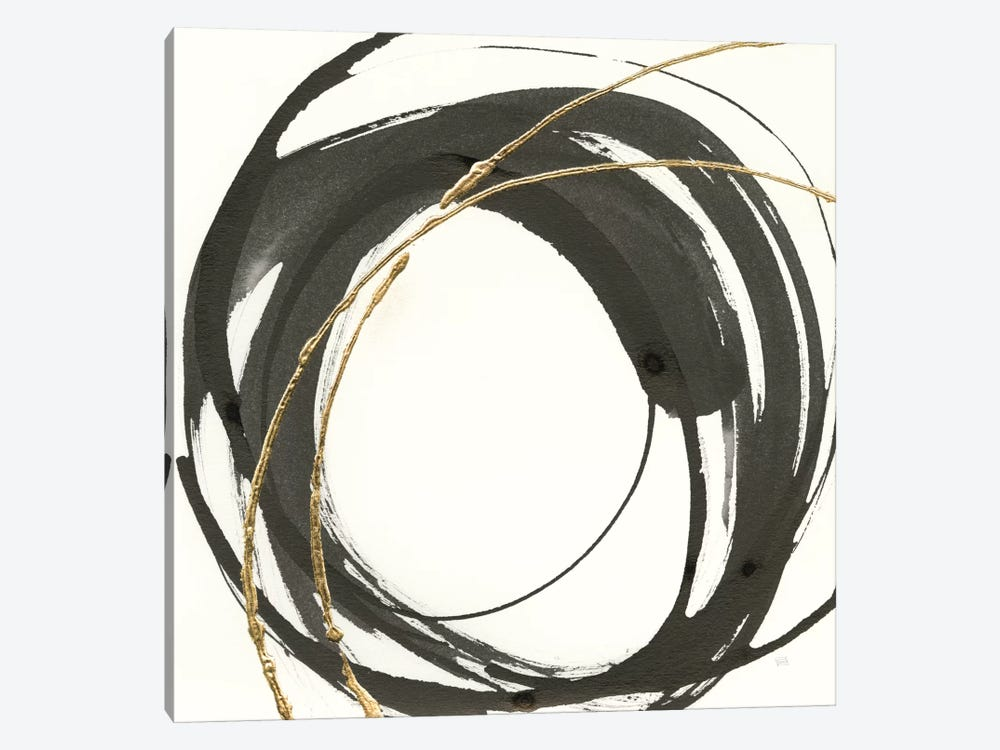 Gilded Enso IV by Chris Paschke 1-piece Canvas Art Print