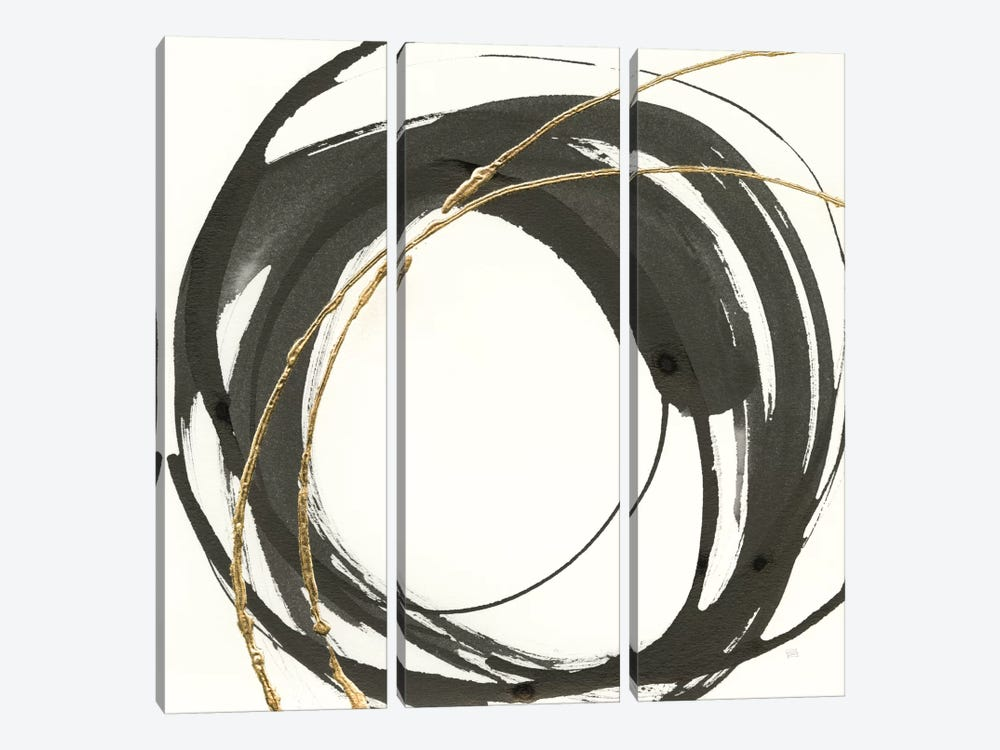 Gilded Enso IV by Chris Paschke 3-piece Art Print