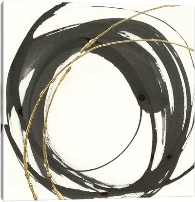 Gilded Enso IV Canvas Art Print