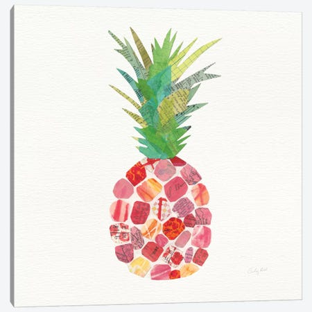 Tropical Fun Pineapple I Canvas Print #WAC8814} by Courtney Prahl Canvas Art Print