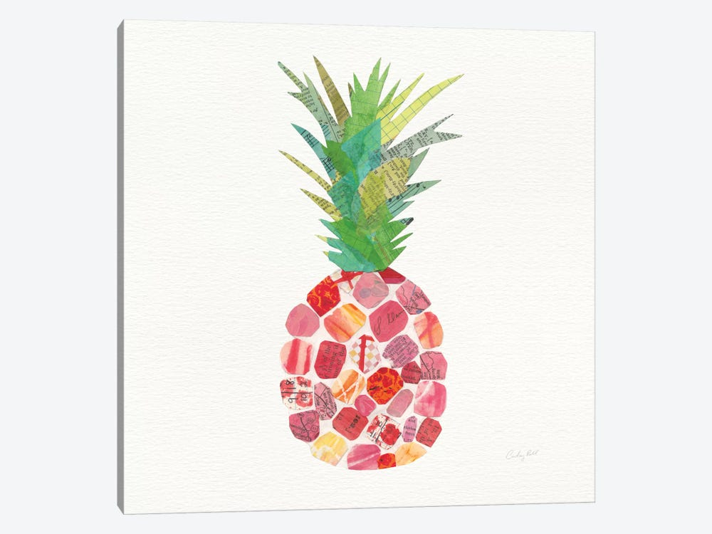 Tropical Fun Pineapple I 1-piece Canvas Art Print