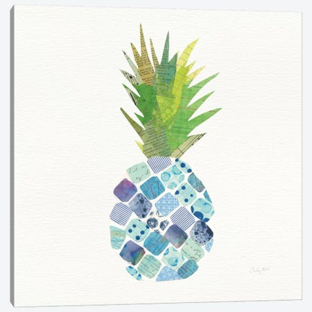 Tropical Fun Pineapple II Canvas Print #WAC8815} by Courtney Prahl Canvas Art Print