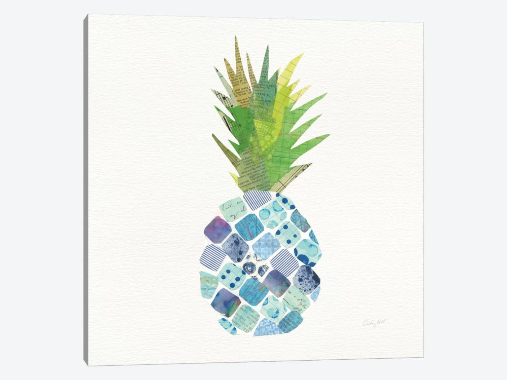 Tropical Fun Pineapple II by Courtney Prahl 1-piece Canvas Wall Art
