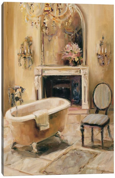French Bath I by Marilyn Hageman Canvas Art Print
