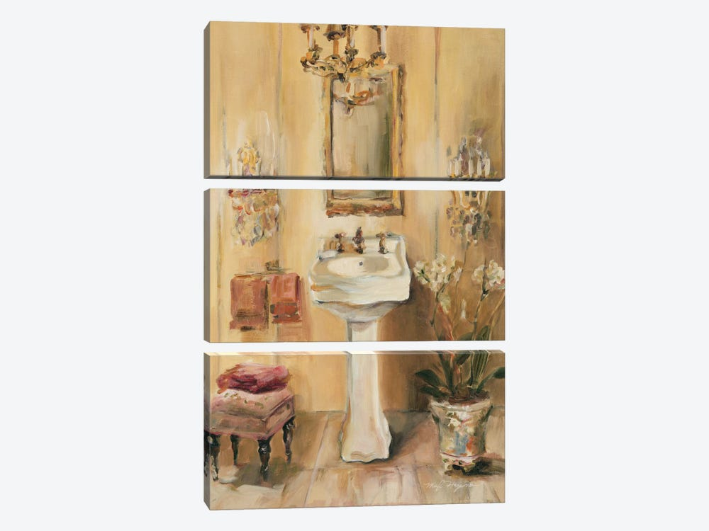 French Bath III by Marilyn Hageman 3-piece Canvas Artwork