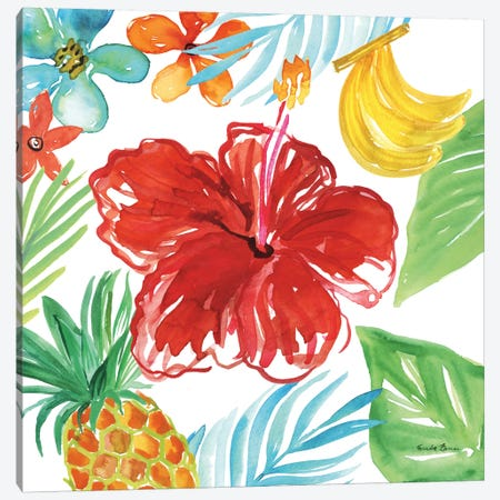 Tropicana V Canvas Print #WAC8849} by Farida Zaman Art Print