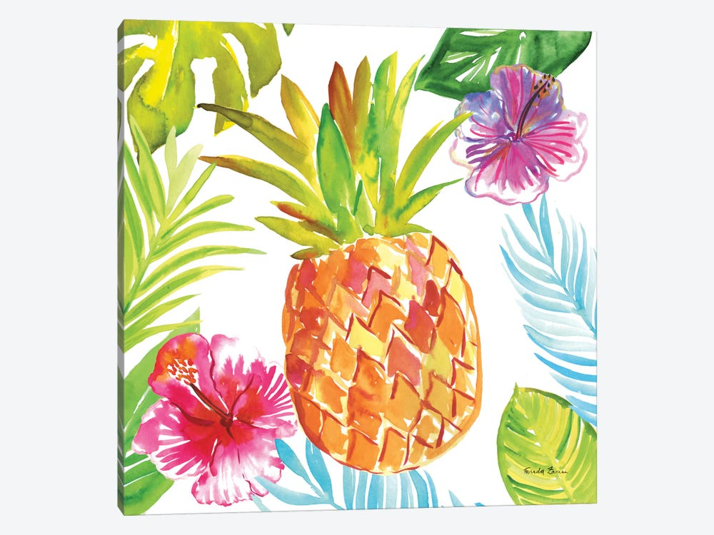Tropicana VI by Farida Zaman 1-piece Canvas Print
