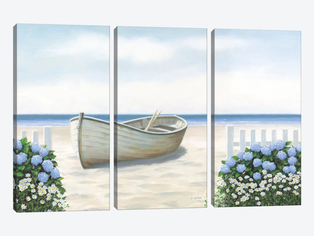 Beach Days I by James Wiens 3-piece Canvas Artwork