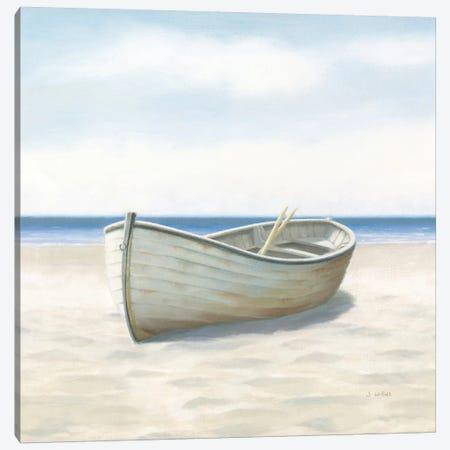 Beach Days I No Fence Flowers Crop Canvas Print #WAC8852} by James Wiens Canvas Wall Art