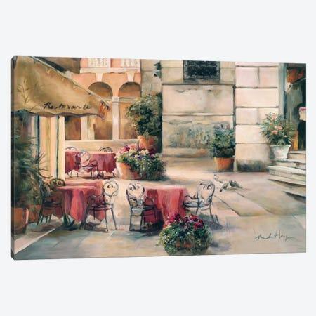 Plaza Cafe Canvas Print #WAC885} by Marilyn Hageman Canvas Print