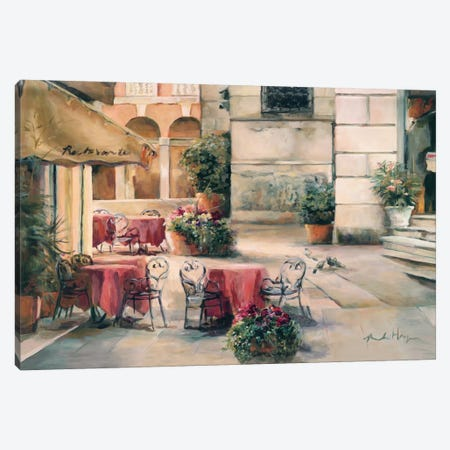 Plaza Cafe Canvas Print #WAC885} by Marilyn Hageman Canvas Print