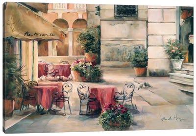 Plaza Cafe Canvas Print #WAC885