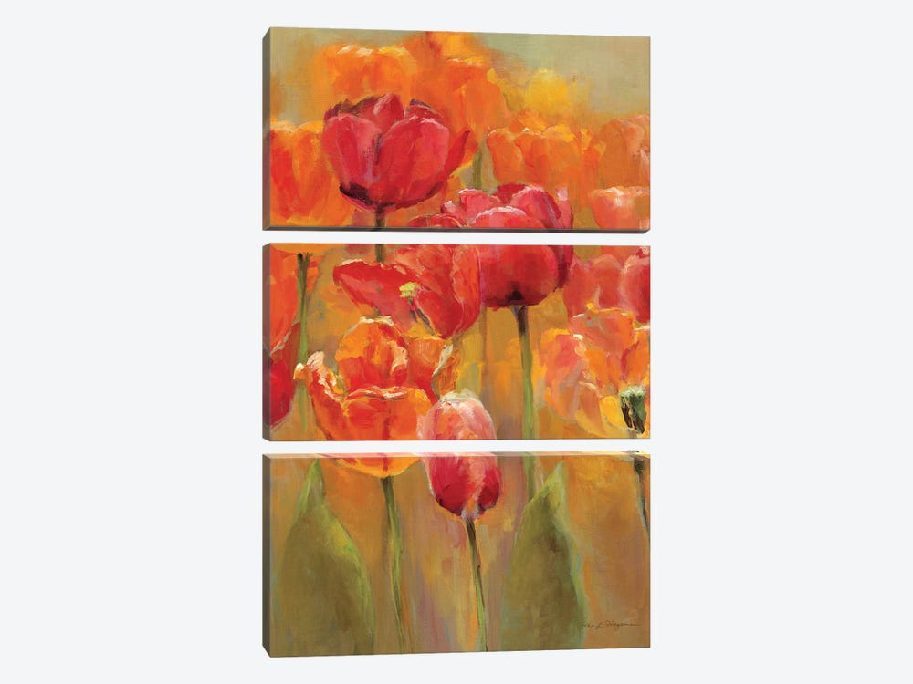 Tulips in the Midst I by Marilyn Hageman 3-piece Canvas Art