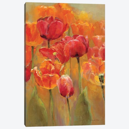 Tulips in the Midst I 3-Piece Canvas #WAC887} by Marilyn Hageman Canvas Print