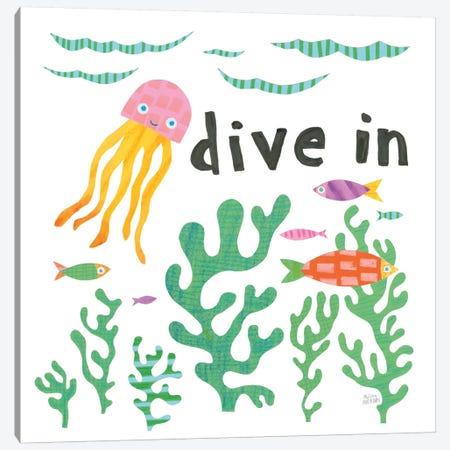 Ocean Splash III Canvas Print #WAC8883} by Melissa Averinos Art Print