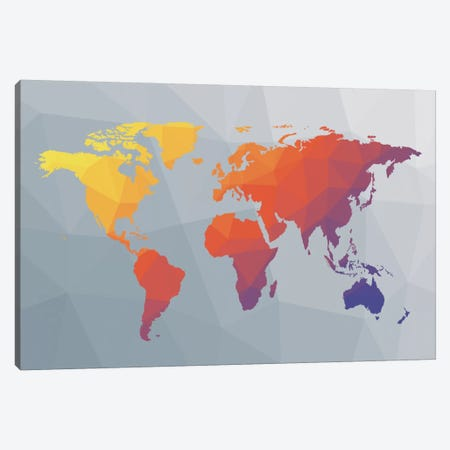 Geo Map I Canvas Print #WAC8887} by Moira Hershey Canvas Art